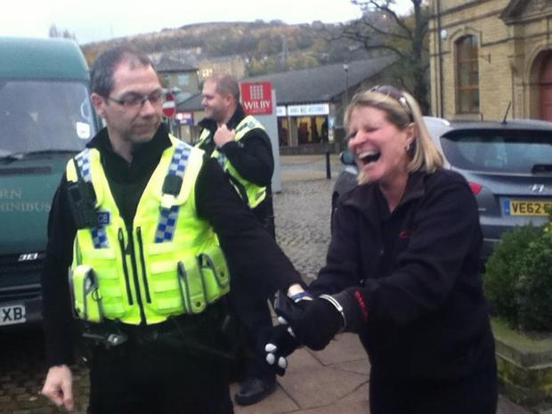 Trainer Gillian Hainsworth sees the humorous facet as she is arrested in ...