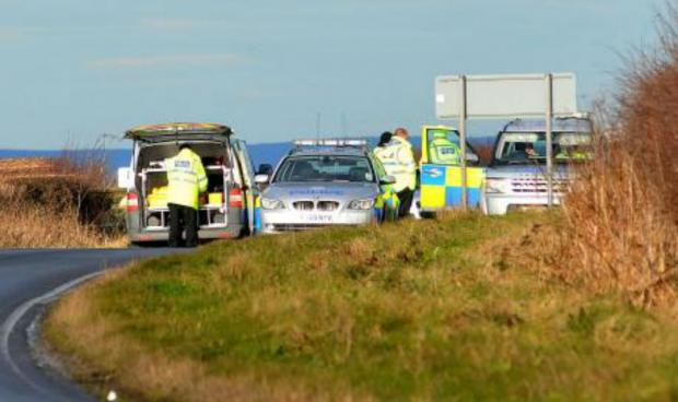 The tragic scene on the B1248 last November
