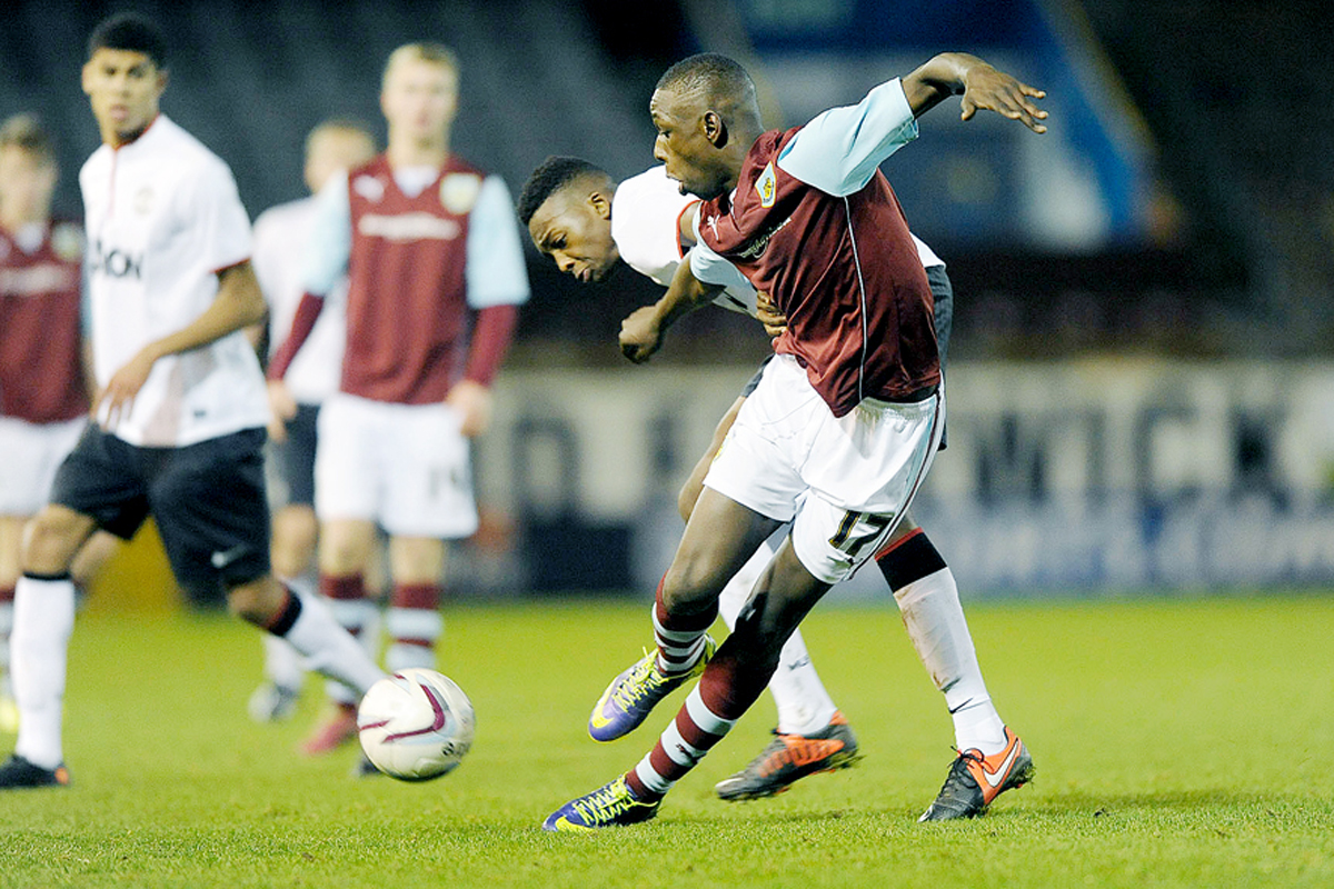 A FINE CLARET: Prolific teenage Burnley striker Ntumba Massanka has signed on loan at York City