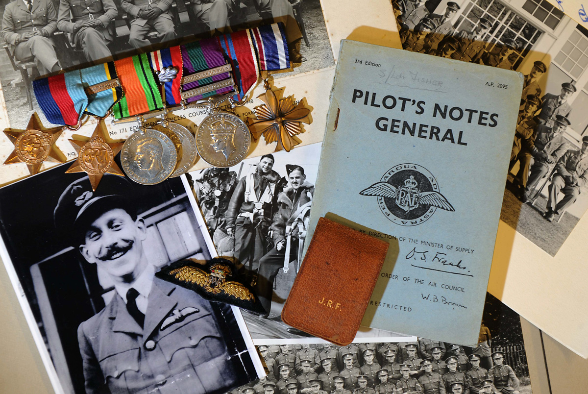 Race against time to save RAF hero's war memorabilia