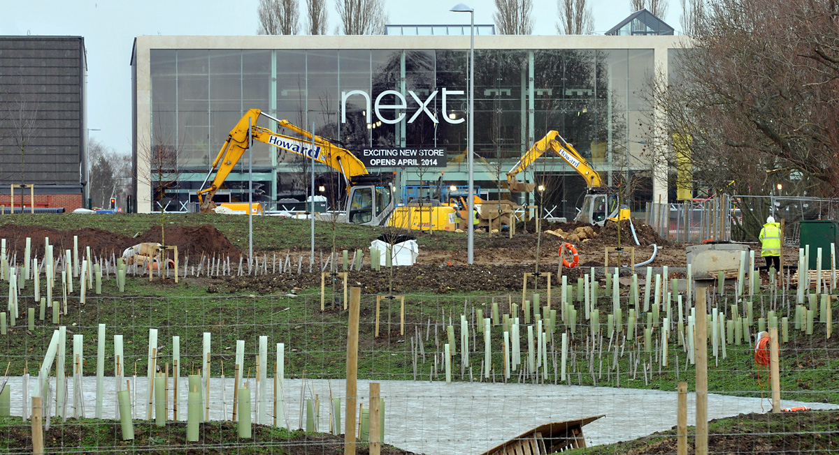 The Vangarde Shopping Park at Monks Cross under  construction
