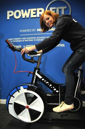 Nicola Doody with the new Powerfit machine