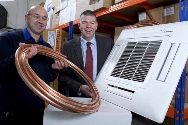 Simon Walton, left, Cooltec's managing director, and Ian Atkinson of Finance Yorkshire