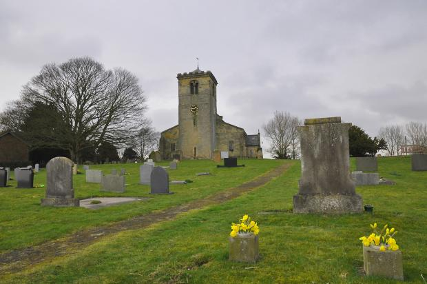 York Press: Across the graveyard to Rudston church