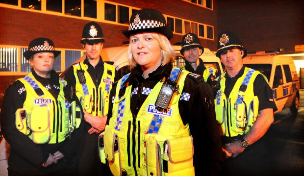 Specials Amanda Popely, John Douglas, Temporary District Officer Kath Houlden,