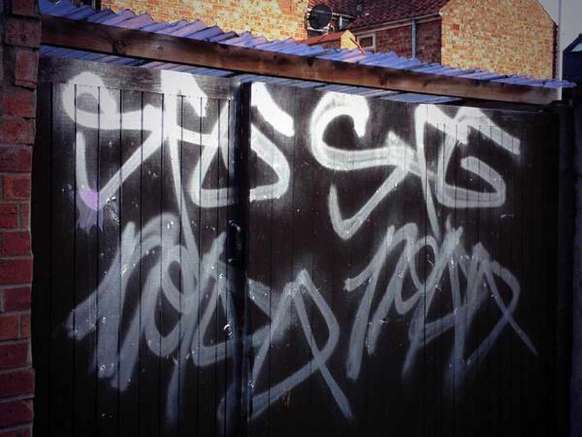 Hunt for York graffiti vandals