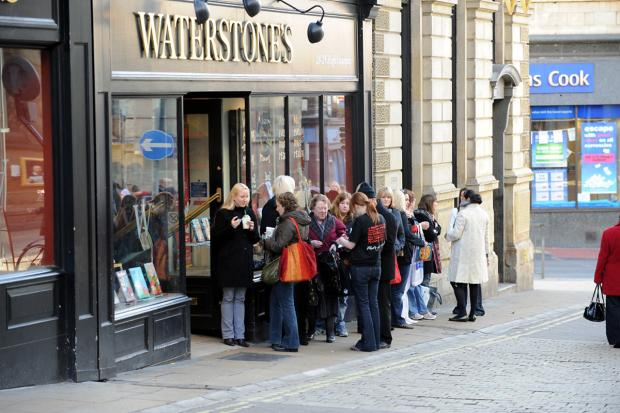Fans gather  outside  Waterstone's  in High Ousegate ahead of a book signing by chef Gordon Ramsay