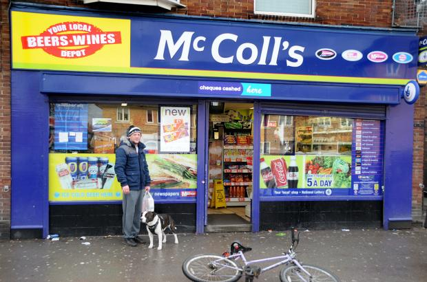 The McColl's shop in Crichton Avenue, Clifton, York