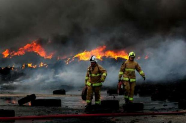 Arrest made over tyre fire