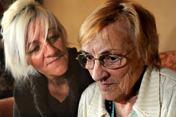 Jo Stone with her mother, Brenda Scott, who had her handbag stolen at York Hospital
