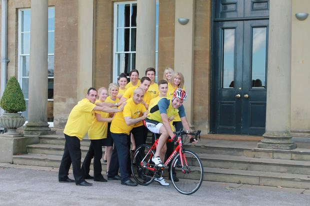Peter Banks and his team at Rudding Park Hotel, celebrate their success and gear up to welcome the Tour de France Grand Départ