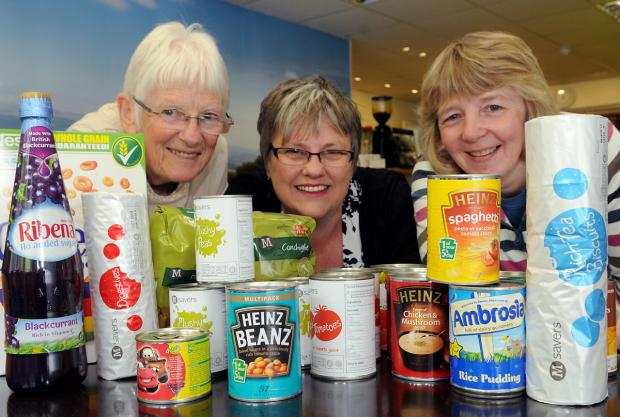 Volunteers at the Ryedale Foodbank