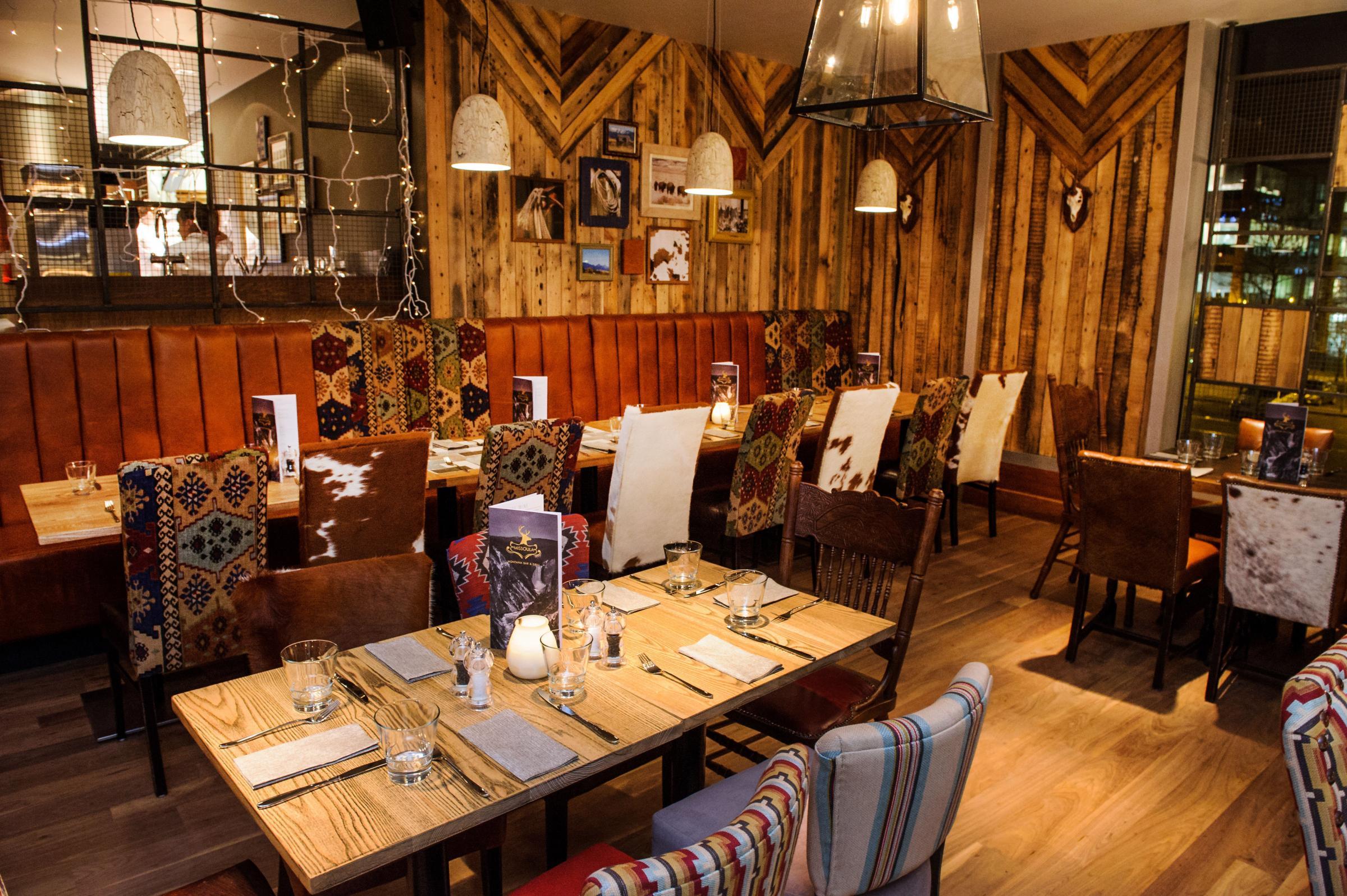 Interior Of The Missoula Montana Bar Grill In Milton Keynes