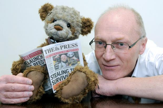 Steve Hughes managing editor of The Press with Padmin.