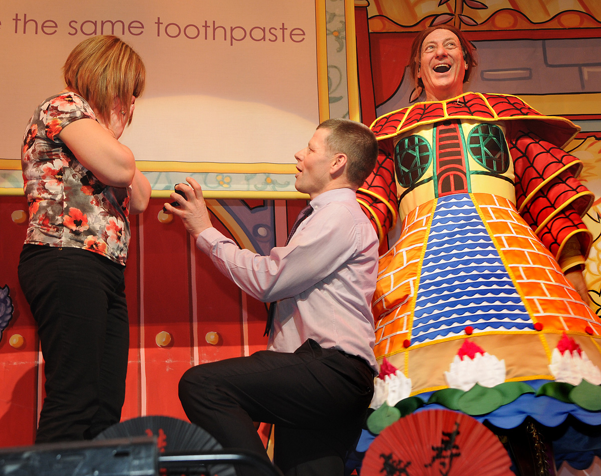 Oh yes, she will: surprise wedding proposal at York pantomime