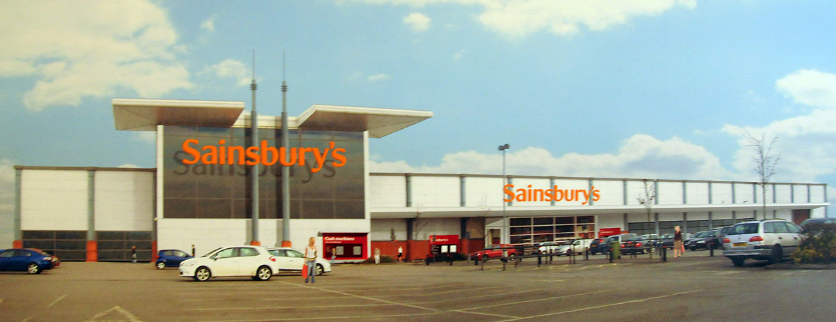 An artist's impression of how the new Sainsbury's store in Hull Road could look
