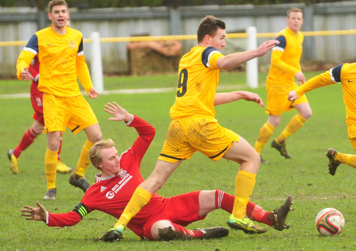 Tadcaster Albion striker Calum Ward nets hat-trick on his return; as Pickering Town move up to tenth