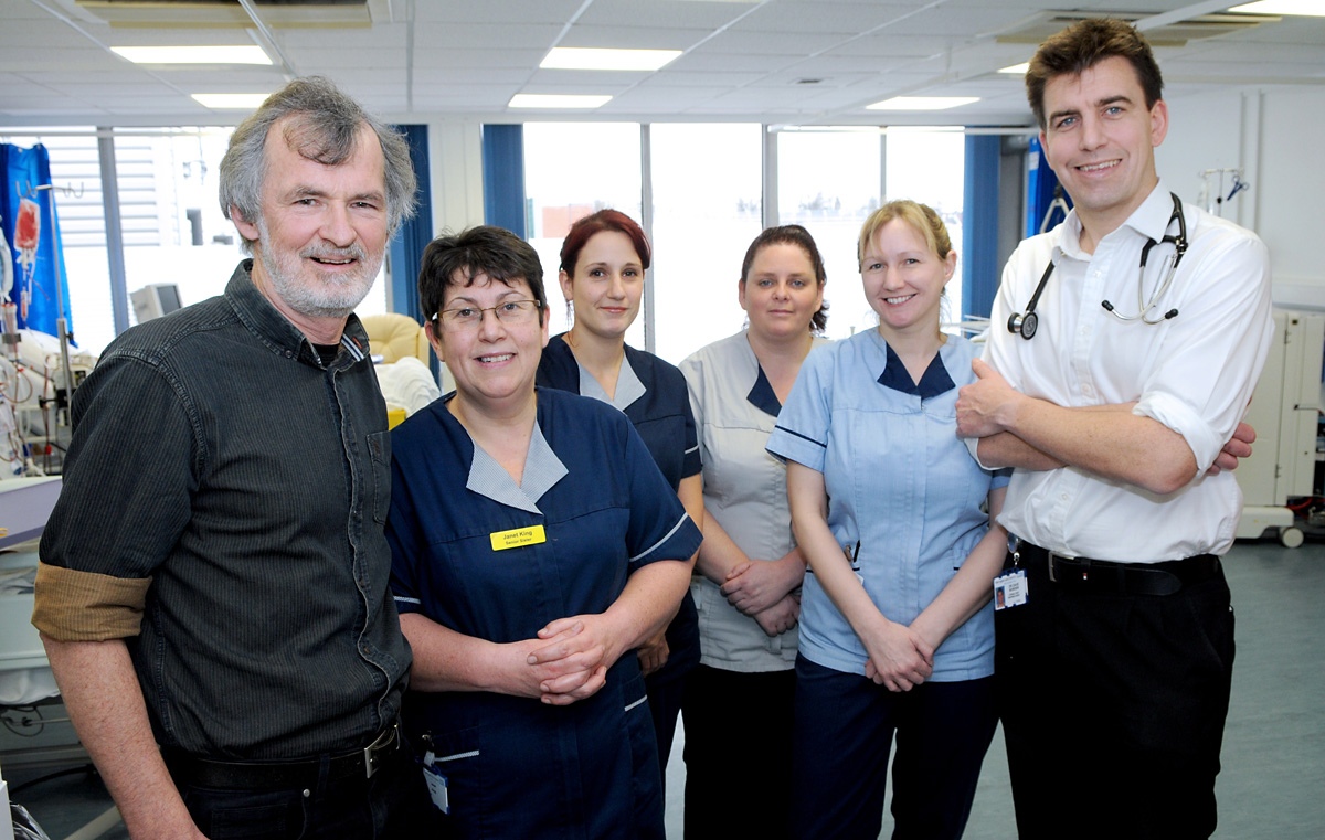 At the official opening of York Hospital's Acute Dialysis Unit are retired renal consultant Dr David Worth, senior sister Janet King, deputy sister Emma Crosby, health care assistant Dawn Finch, nurse Tara Taylor and renal consultant Dr Dave Border