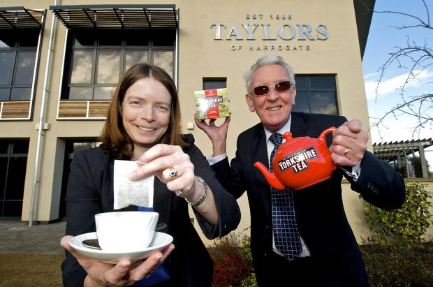 Madeline Wolfe, export sales administrator at Taylors of Harrogate, with Mike Strawson, of Chamber International, who are trying to resolve a dispute with South Korea