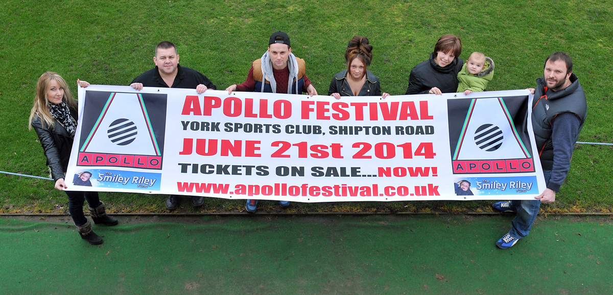 Apollo Festival boost for Smiley Riley fund