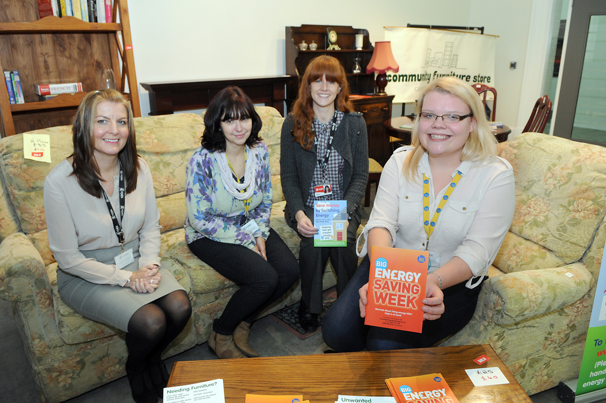 Becky Jeffrey, right, from York's Citizens Advice Bureau, with representatives from partn