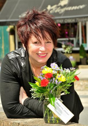 Sue Hunter, chairman of Acomb Alive! and owner of Floral Elegance in Front Street
