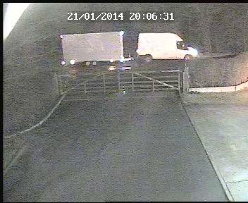 CCTV footage of the theft of a National Park display trailer