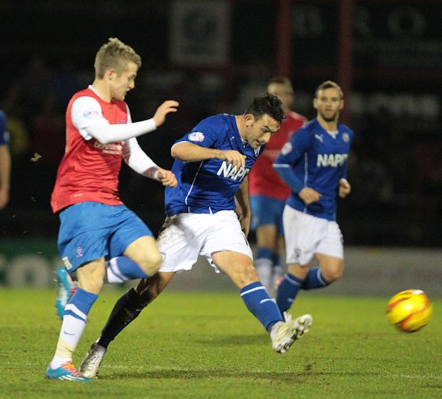 Will Hayhurst on his debut for York City. Picture: Gordon Clayton