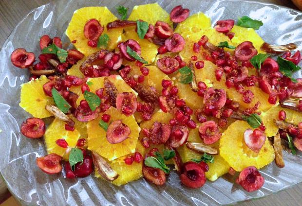 Recipe for Moroccan-style orange dessert platter