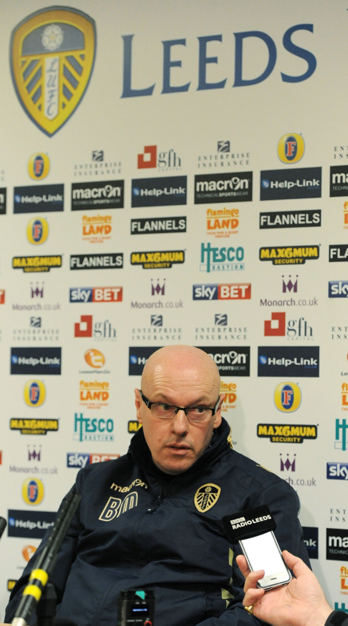 'Sacked' Brian McDermott at a press conference