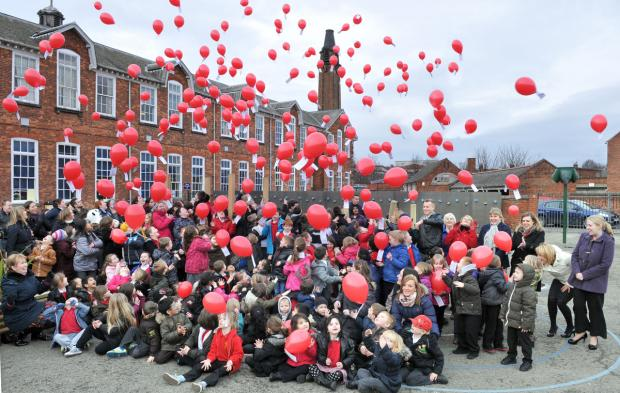 Staff and pupils at Haxby Road Primary School release 150 balloons to celebrate their        academy status – but is this a fitting form of celebration? The writer of today's Soapbox letter this not