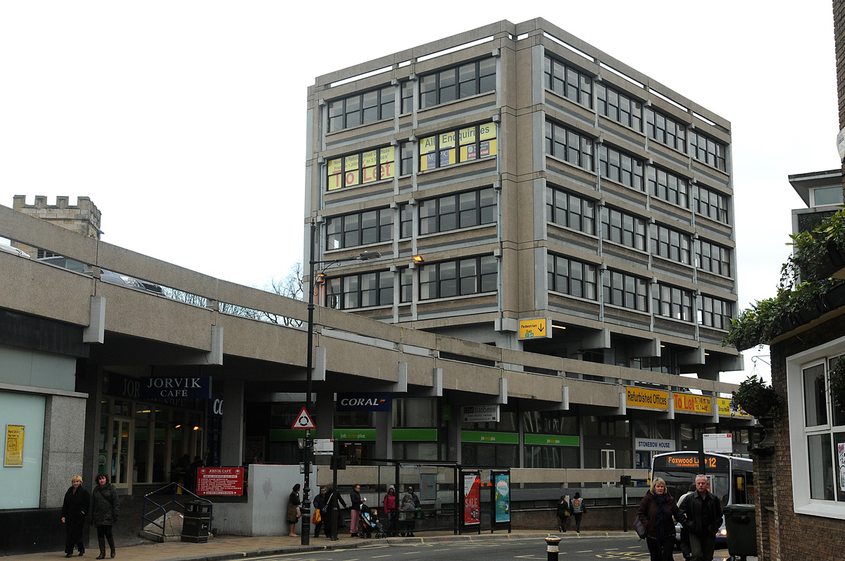 The unforgiving Brutalist architecture of Stonebow House has divided opinion over the years