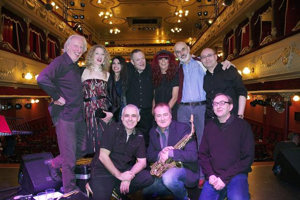 Back, from left, George Hall, Heather Findlay, Natalie Anderson, 'Big Ian', Jess Morgan, Graham Hodge and Dave Hardy; Front, from left, Martin Ledger, Mick Donnelly and Phil Hardy.        Picture: Marc McGarraghy/ Yellow Mustang Photography