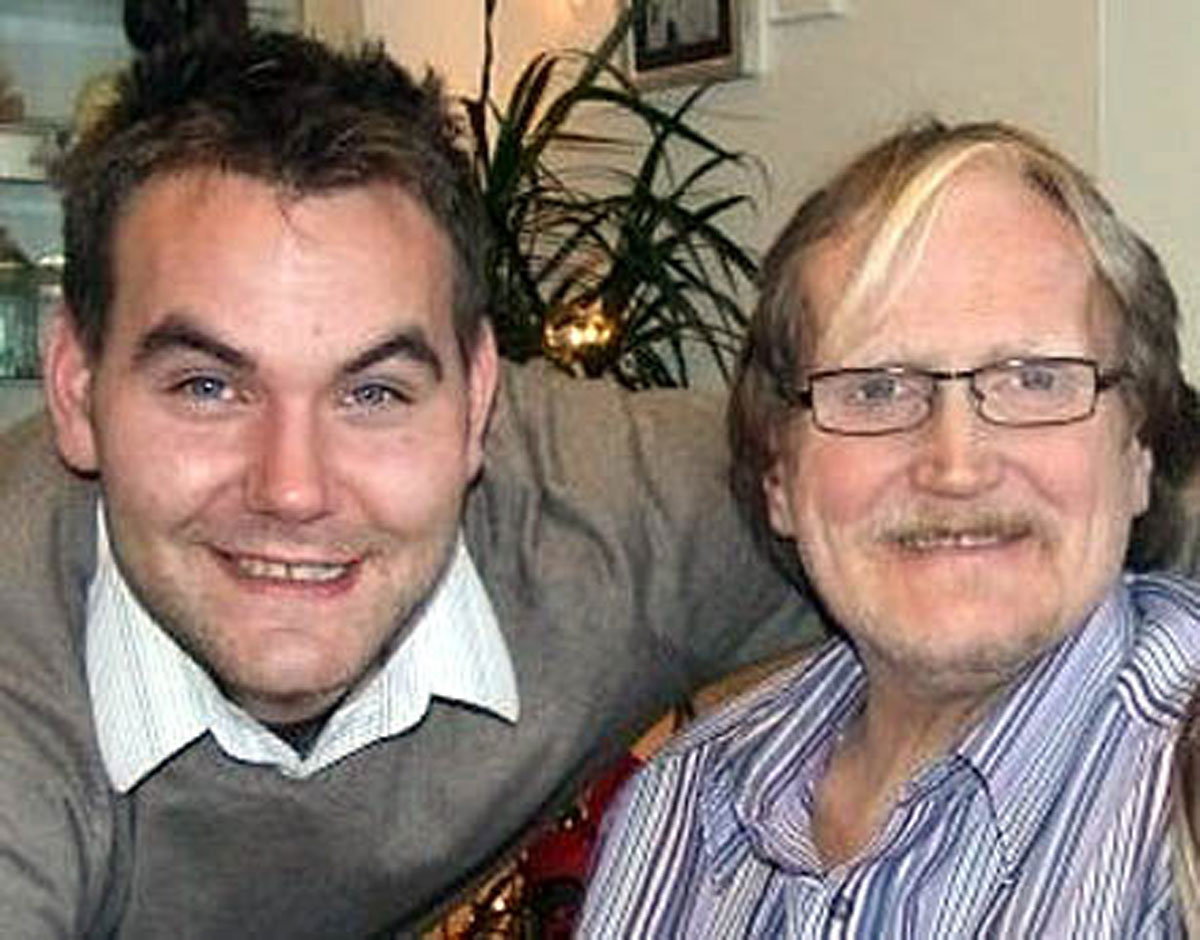 Matt Dixon with his father, Phillip