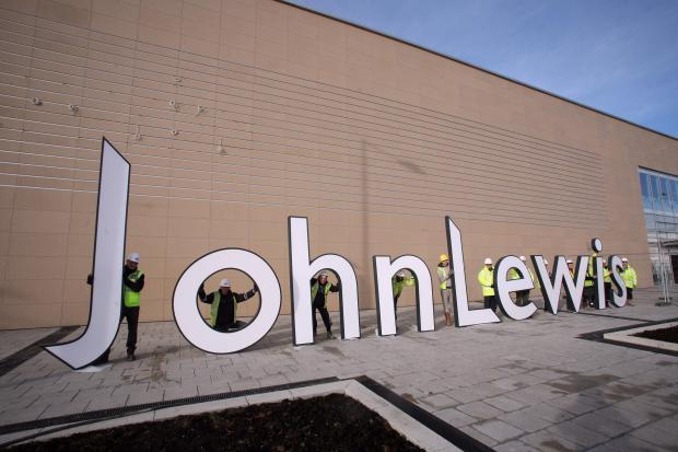 The signage going up at the new John Lewis in York
