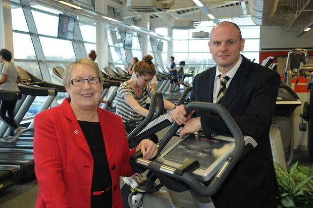 Coun Sonja Crisp and Keith Morris, Active York's acting chair, launch the Active York Sports Awards at York Sport Village