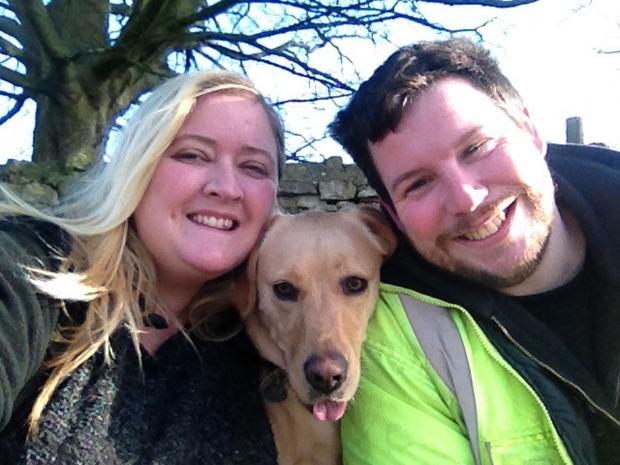 York Press: Lola with her owners, Rachel Riley and her husband Dave