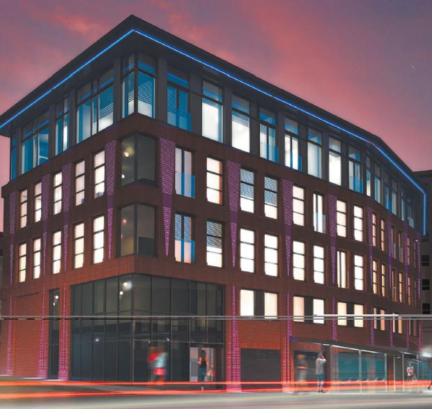 Artist's impression of the development in Rougier Street