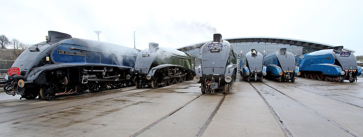 Class A4 engines gather for Great Goodbye