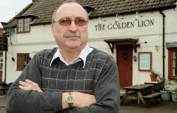 Ian Boyington, owner of the Golden Lion, in Great Barugh, who says he is losing trade during road closures in the area