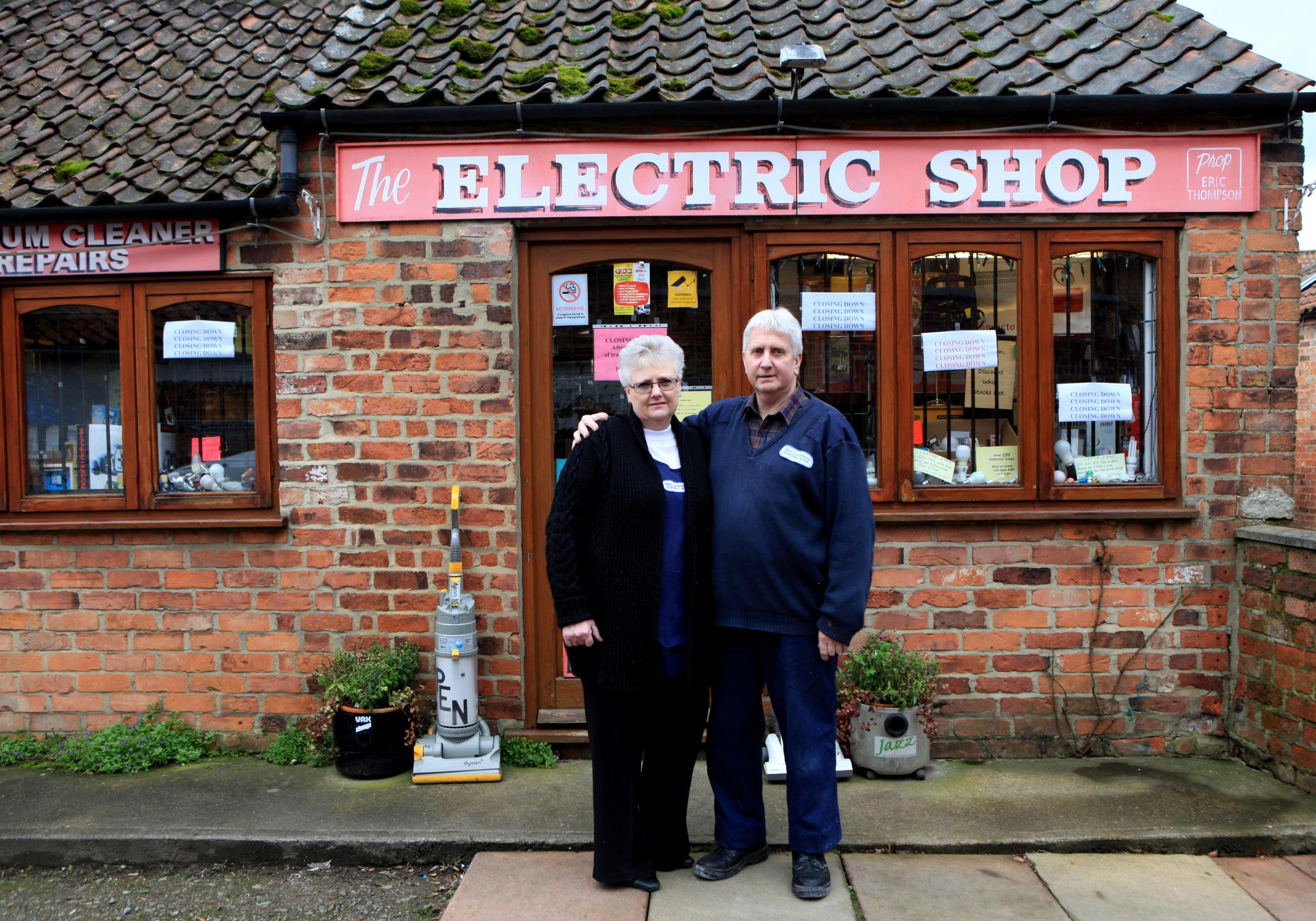 The Electrical shop in Thirsk which brought power to Thirsk and Catterick Garrison set to close after 91 years, pictured owners David and Susan Higgs