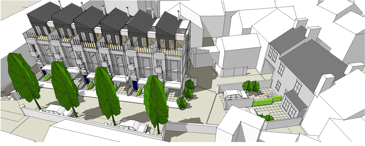 An artist's impression of the homes planned in Walmgate on the Nelson's Inn site