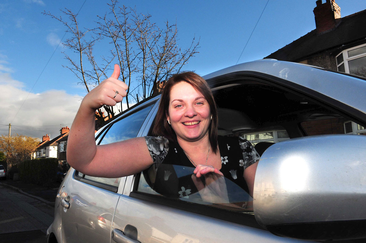 Becky back in the driving seat after brain tumour op