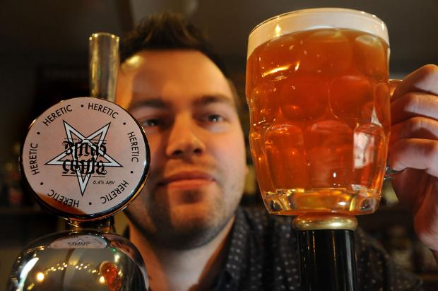 York Press: Martin Jankowskyj, manager of the Duke of York on King's Square with the new Brass Castle Heretic beer
