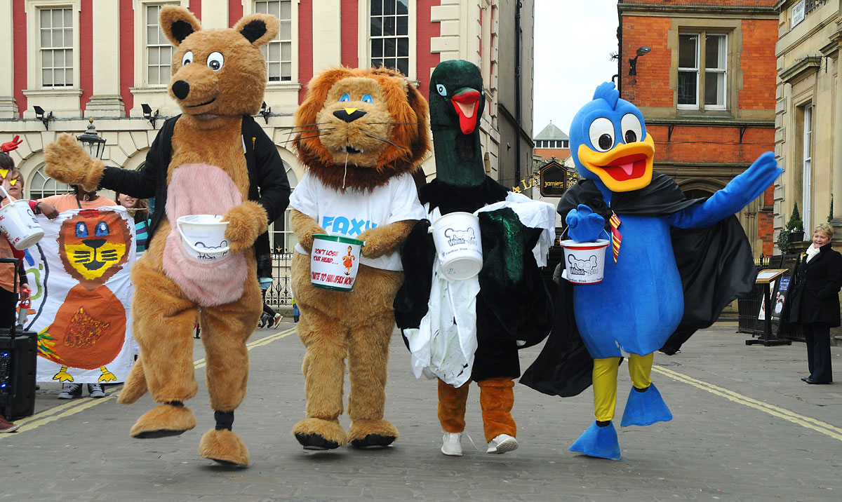 York Press: Mascots from the university take to the streets