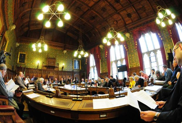 York Press: A library picture of inside the council chamber at City of York Council where councillors last night approved the authority's budget plans