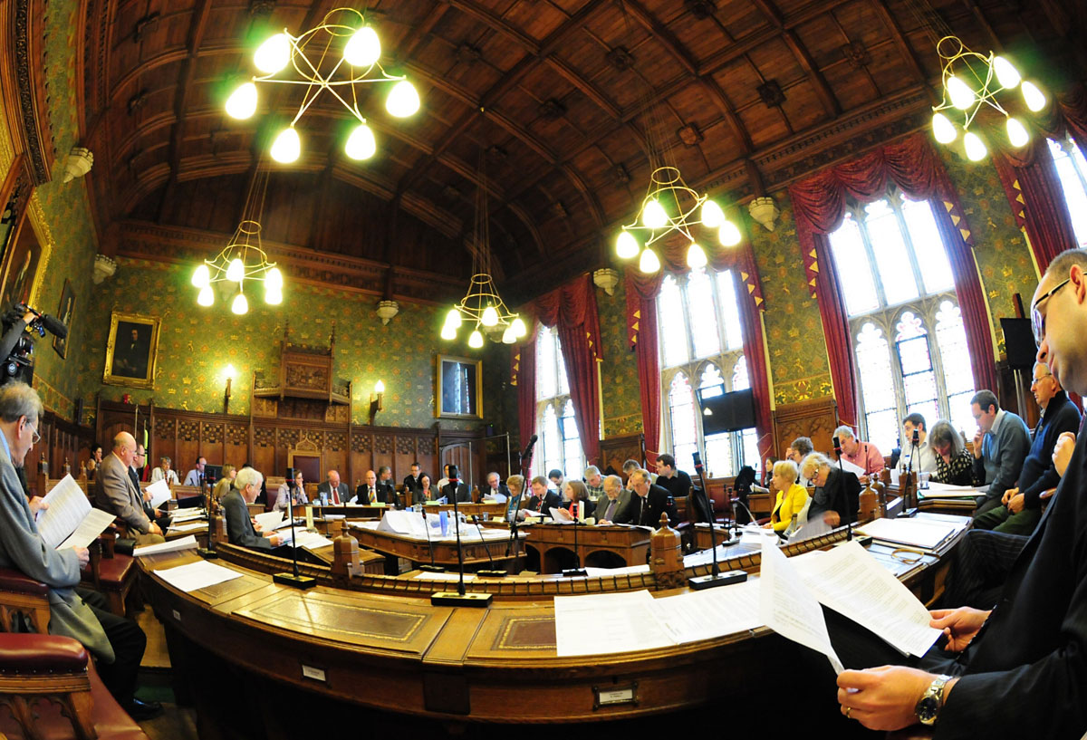 A library picture of inside the council chamber at City of York Council where councillors last night approved the authority's budget plans