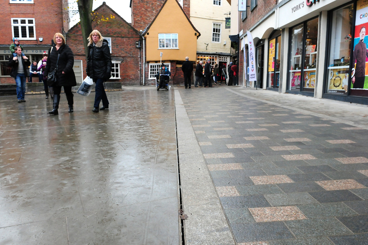 King's Square in York, which has been resurfaced with new paving flags