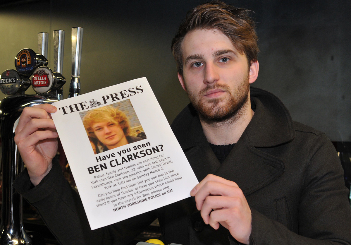 Ben Clarkson search enters fifth day - poster appeal launched - divers return to Foss - UPDATED 12pm