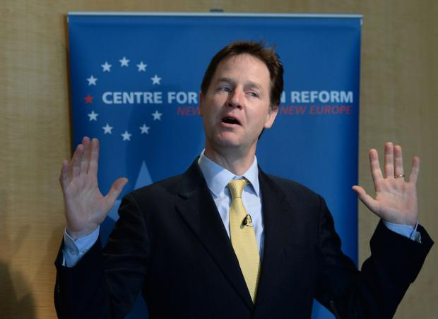 "The Deputy Prime Minister Nick Clegg said York has a great ""get up and go spirit"""